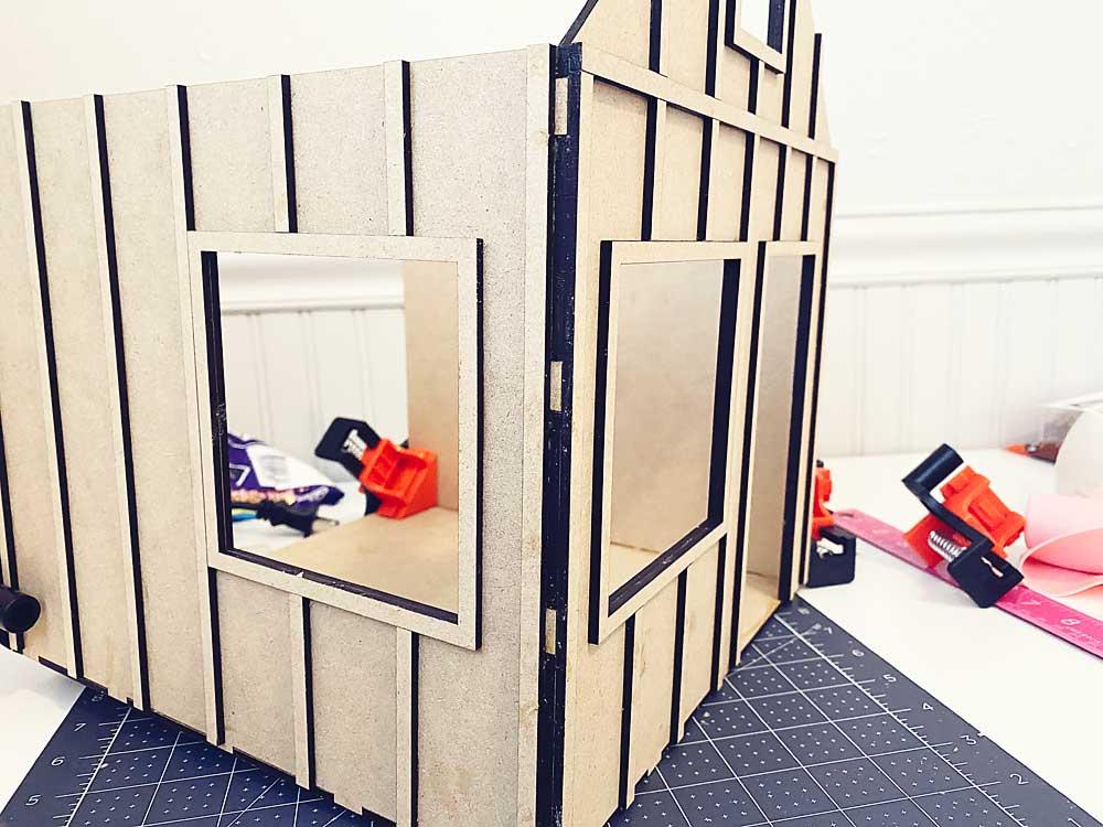 Dollhouse Exterior Trim Room Box Build by Aspen Miniature