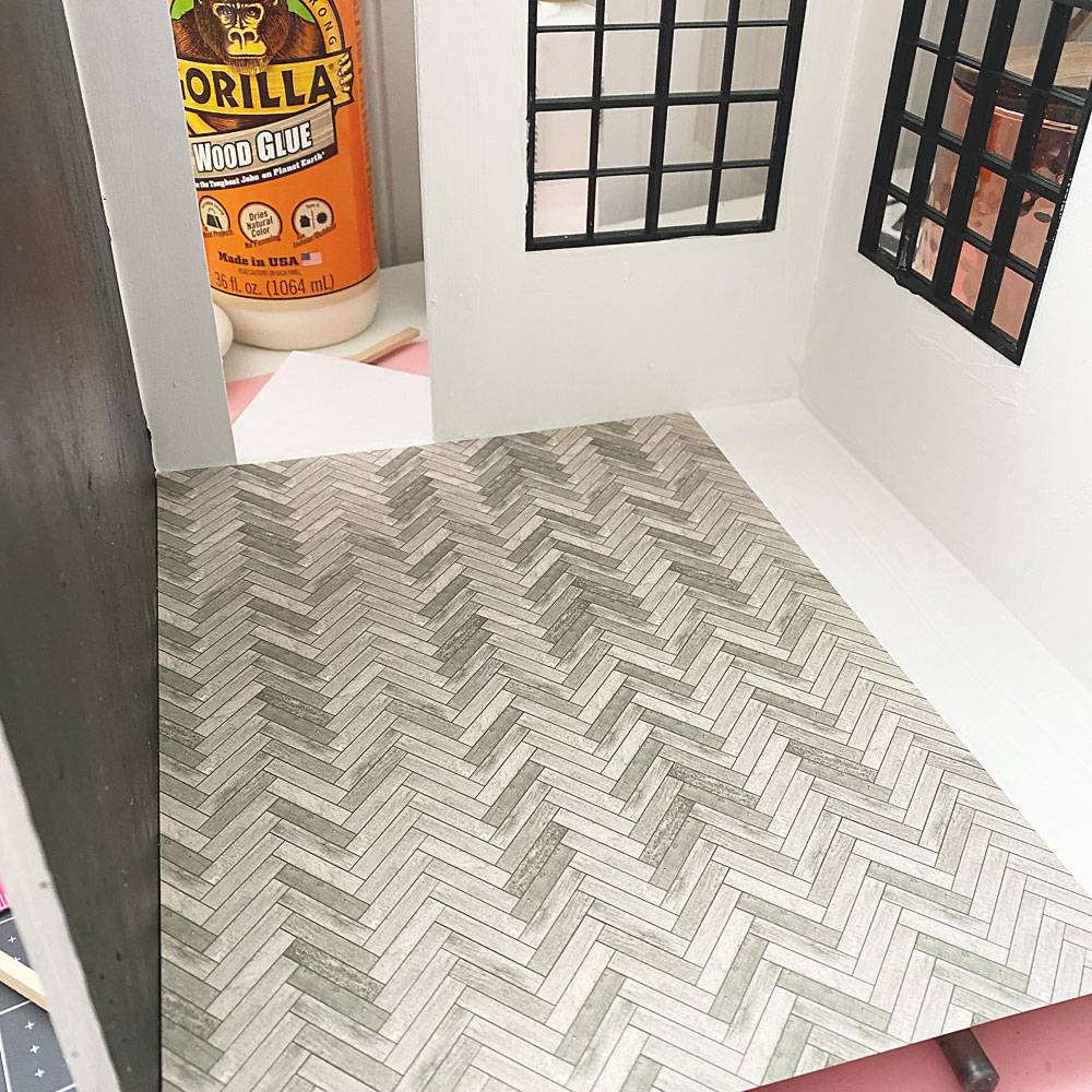 Dollhouse Interior Board and Batten Wall and Flooring