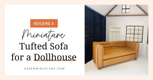 How to build a miniature tufted sofa for a dollhouse using a laser cutter.